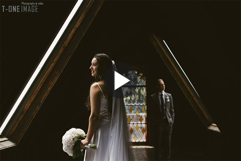Cristina & Kreston's Wedding Video Trailer @ Montsalvat VIC Melbourne wedding photography t-one image