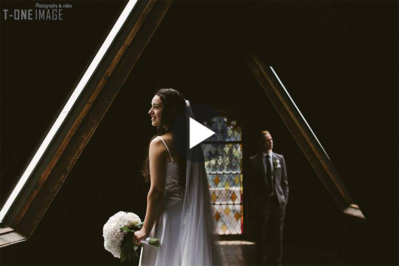 Cristina & Kreston's Wedding Video Trailer @ Montsalvat VIC Melbourne wedding photography t-one image