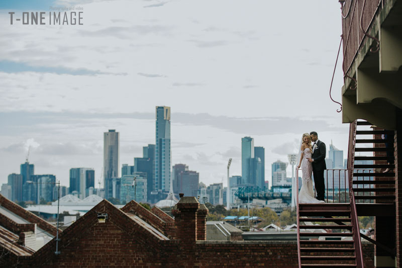Madison & Calvin's wedding @ Aerial South Wharf VIC Melbourne wedding photography t-one image